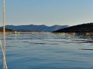 Soline bay fish farm sailing croatia