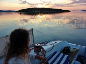 sunset soline bay island iž croatia