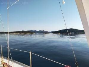 soline bay island iž croatia fish farm