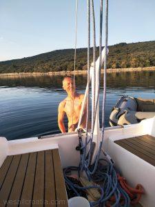 nudist sailor swim