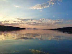 soline bay island iž croatia sunset