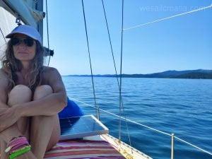 sailing along Dugi island