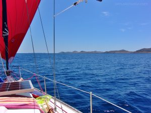 sailing along Kornati islands