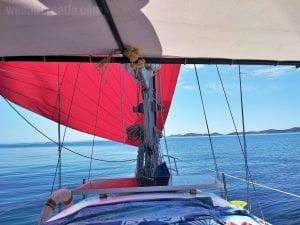 Sailing along Kornat