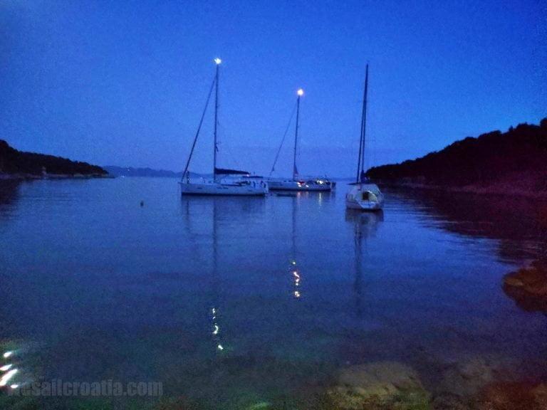 Lucice bay anchorage island Brac