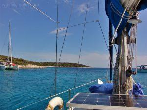 Tarsce bay anchorage - Sv. Klement