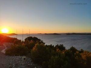 view from island Zirje