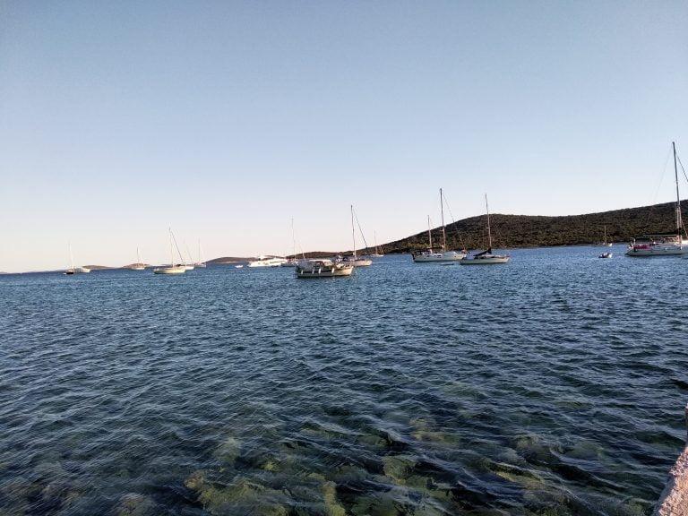island Ist anchorage Croatia