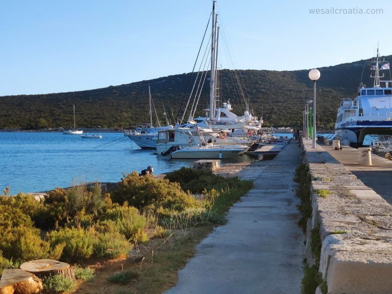 island Ist harbour and anchorage Croatia