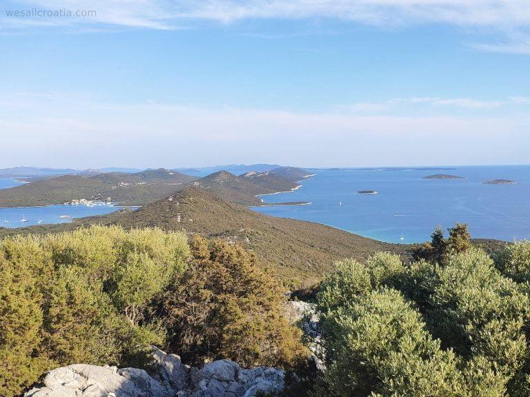 island Ist Croatia, hill Straža, stuninng view on Kornati