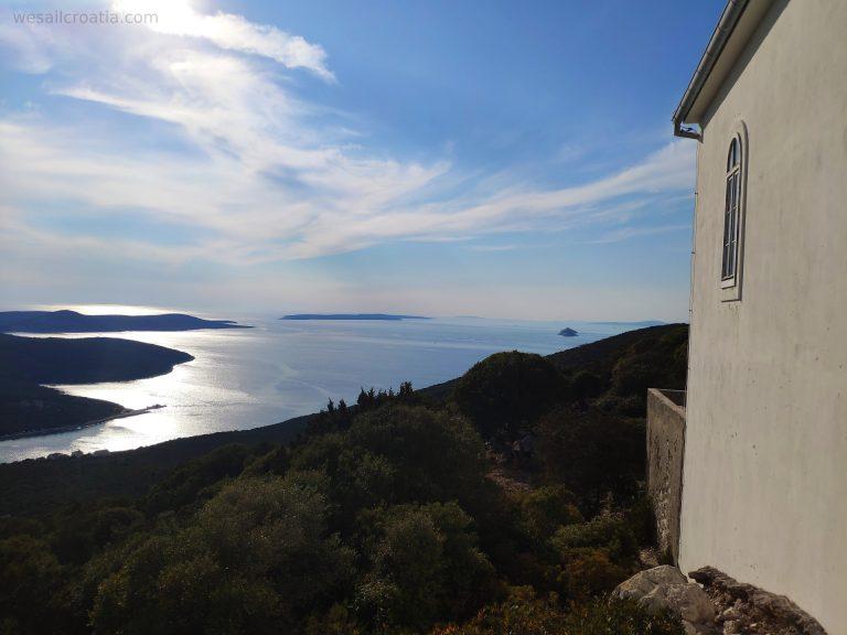 island Ist hill Straža stunning view