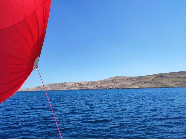 Sailing along Pag